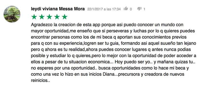 Opiniones. MiBeca. DianaSpeaks.