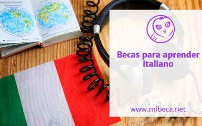 Más de 100 becas para estudiar italiano [2021]
